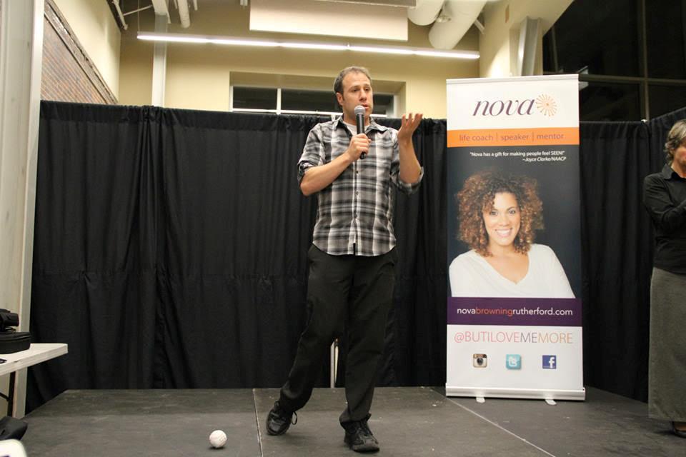 chris nihmey speaking at carleton university